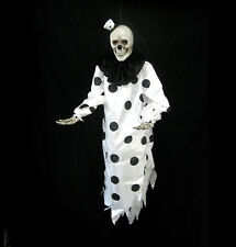 """Hanging Evil Clown Skull Ghost Black Halloween Party Haunted House Prop 36"""""""