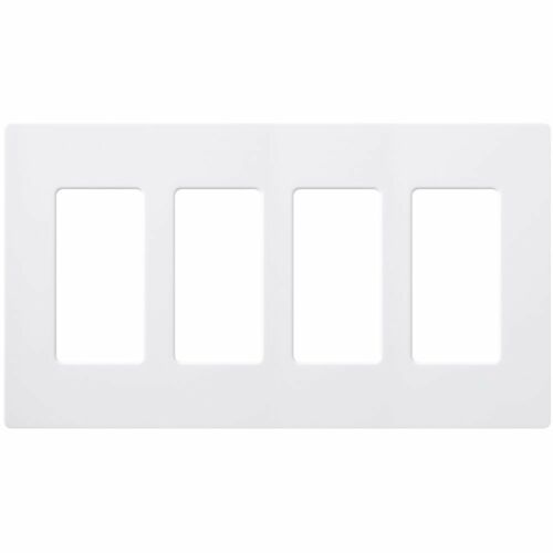 Lutron CW-4-WH 4-Gang Claro Wall Plate Free Shipping White New