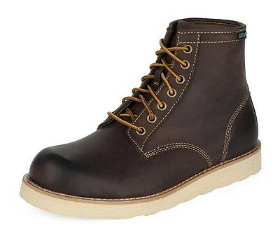 Men's * Eastland * Barron Boots Classic 6'' Dark Brown Plain Toe Lace Up