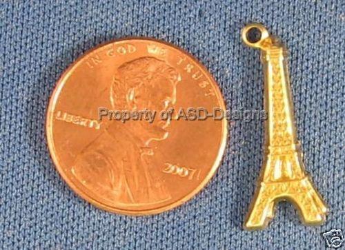 50pc Raw Brass Eiffel Tower Paris Charms 6219