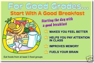 start with good breakfast eating food nutrition poster ebay
