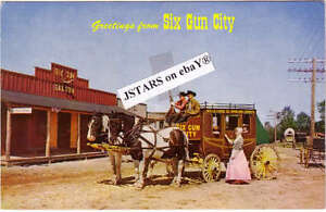 Image Is Loading C 1957 Jefferson Nh Six Gun City Stagecoach