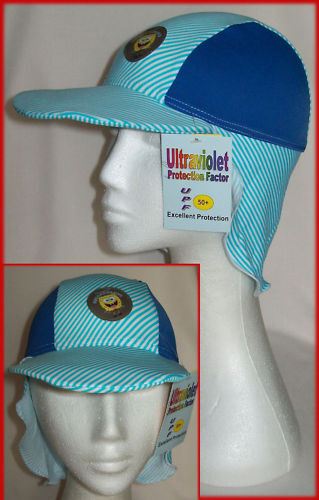 LYCRA BEACH SUN HAT Kids Cap Child NEW Sz 2-5 or 5-10yr