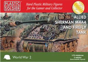 WW2V20015-20MM-Allies-Sherman-M4A4-et-Luciole-Tank-Plastic-Soldier-Company-WW2