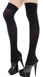sexy bas chaussettes hautes opaques noires ecoliere soubrette policiere tenue ebay. Black Bedroom Furniture Sets. Home Design Ideas