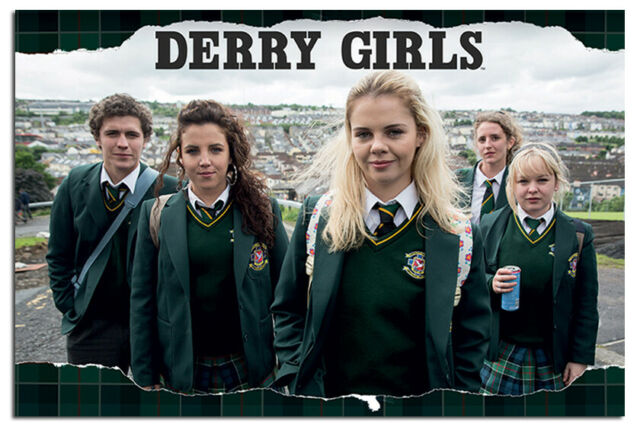 Derry Girls Rip Poster Official Licensed 24x36""