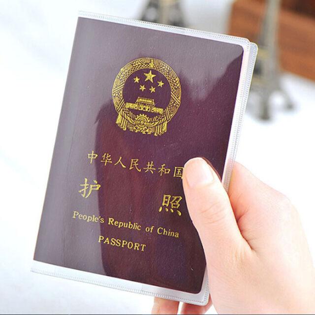 Women Men Travel Passport Holder PU Leather Cover ID Credit Card Holder WalletBB