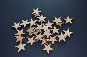 "2000 Small 1 inch Wood Stars Craft Supply Flag Wooden Star DIY 1"" x 1"" x 1/8"""