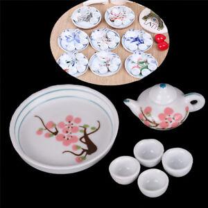 Dollhouse-Miniature-Decoration-Tableware-Porcelain-Tea-Set-Kids-Pretend-Play-TJB