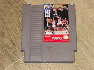 Tecmo-NBA-Basketball-Nintendo-Nes-Cleaned-amp-Tested-Authentic