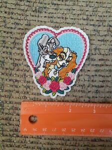 Lady And The Tramp Cartoon Characters Embroidered Iron On Patch