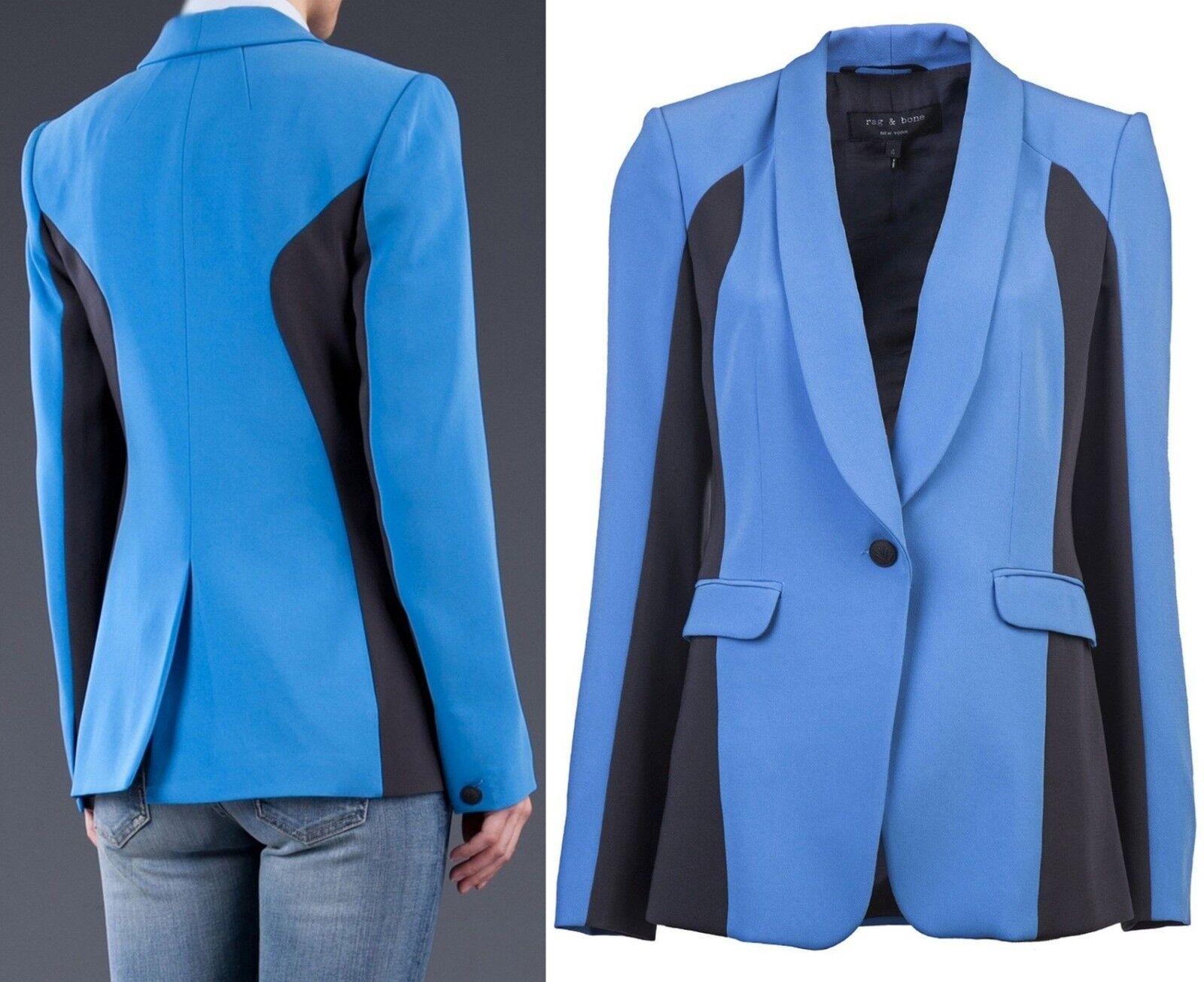 """Rag & Bone Sz  6 Busto  38"""" Azul Jefferson Blazer Chaqueta Abrigo USA Mujeres Dama Nuevo  artículos de promoción"""