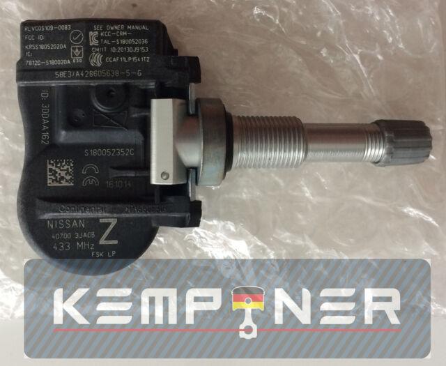 Pathfinder Altima Q50 Infiniti Reifen Luftdrucksens 407003JA0B Nissan