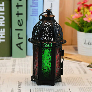 Vintage-Moroccan-Hollow-Iron-Lantern-Tea-Light-Hanging-Candle-Holder-Candlestick