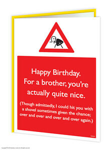 Brainbox candy brother bro birthday greeting cards funny rude cheeky image is loading brainbox candy brother bro birthday greeting cards funny m4hsunfo