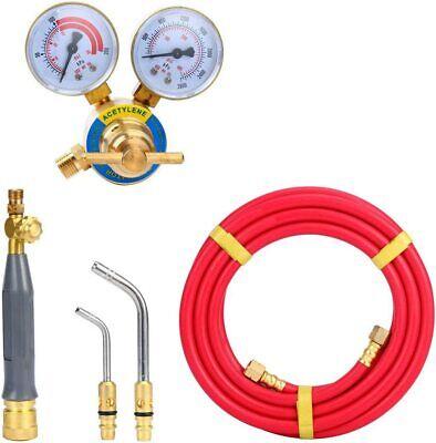 Standard Hose Torch Kit Swirl Including1 Acetylene Regulator CGA 200 Weld Gas Welder BTSHUB 5 Pcs Air Acetylene Kit and Fitting