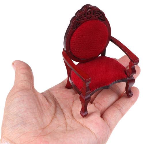 1:12 Puppenhaus Miniatur Mini geschnitzt Pfirsich Form Stuhl Möbelzubehö R.PF
