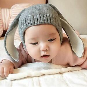 2c07c1a81b7 Baby Rabbit Ears Hat Infant Toddler Autumn Winter Knitted Caps For ...
