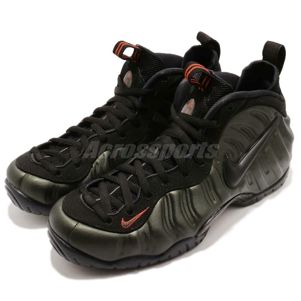 Nike Air Foamposite Pro Sequoia noir Team Orange homme chaussures Sneakers 624041-304