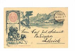 Suisse belle privé GA avec magnifique Lithographie ville zurich-afficher le titre d`origine WcygpGdm-07165157-431041309