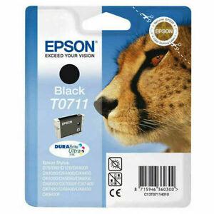 Epson T0711 Negro Cartucho de Tinta (C13T07114012)