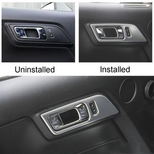 Matte Interior Inner Door Handle Panel Molding Cover Trim for Mustang 2015-2016