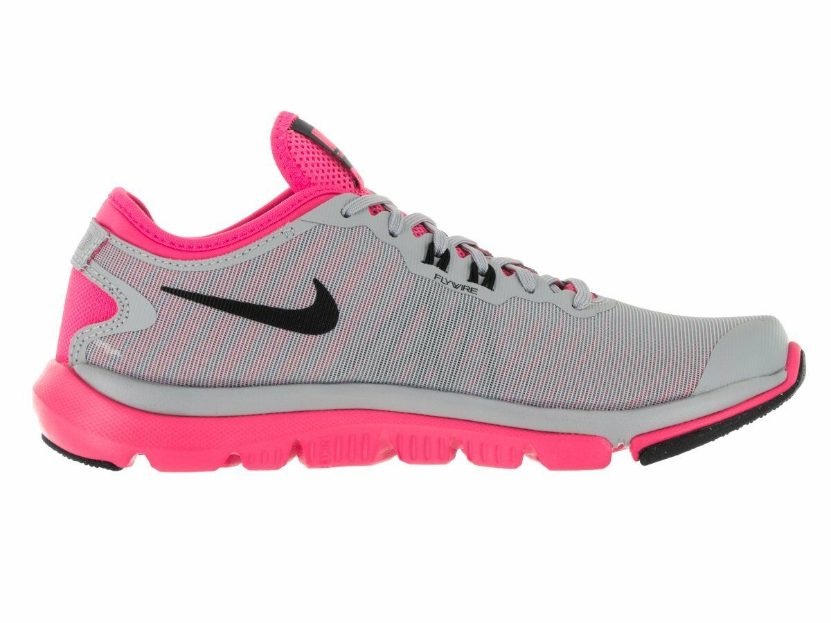 NIKE Women's Women's Women's Flex Supreme TR 4 Cross Trainer Wolf Grey Black-pink Blast White 60a18c
