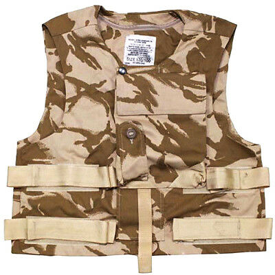 British army surplus desert DPM camouflage vest armour plate carrier flak