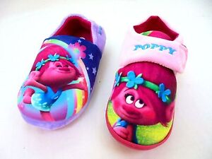 Officially Licensed Trolls Girls Low Top Slippers Pink Various Sizes