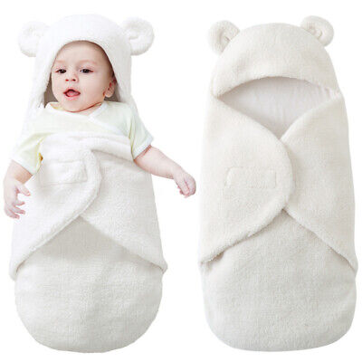 Newborn Baby Swaddle Wrap Soft Winter Bedding Blanket Sleeping Bag 0-12M Gift CY