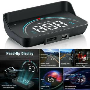 M8 Car HUD Head Up Display OBD2 II Over Speed Warning Speedometer Projector UK