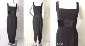 CUE-Women-039-s-Dress-Sleeveless-Vintage-Black-Maxi-Made-In-Australia-Size-8-US-4