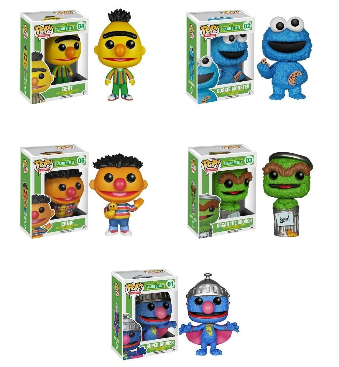 Funko POP Vinyl - Sesame Street - Series 1   Full Set Rare Limited (Sealed)