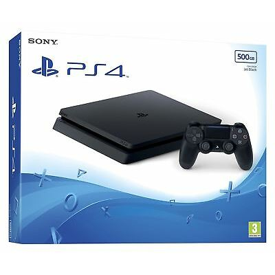 Sony Playstation 4 PS4 Slim CUH-2016A Console Black 500GB HDR Technology Grade C