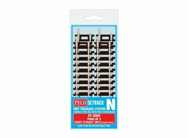 PECO ST2 N SCALE Setrack Short Straight