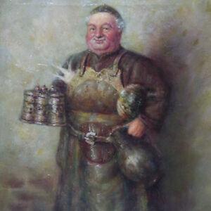 Walter-Berlin-Hansgerd-1916-Berlin-Moench-Brotzeit-Radi-Brot-Rettich-Bier-Krug