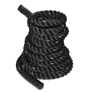 "1.5"" Poly Dacron 50ft Battle Rope Exercise Workout Strength Training Undulation"