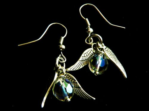 Silver Plated /'Snitch/' Earrings Great Gift Suit Harry Potter Fan
