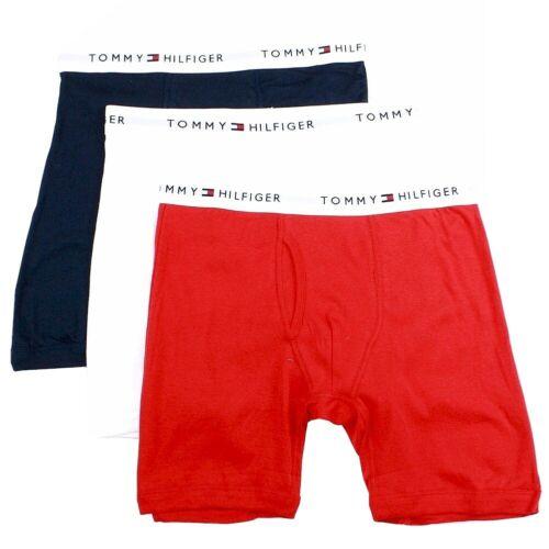 Tommy Hilfiger Men/'s 3-Pc Classic Mahogany Cotton Boxer Brief Underwear