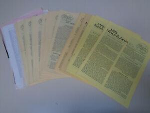 Nbs News Bulletin Années 1970 (25) Boîte à Musique Société Newsletters-afficher Le Titre D'origine