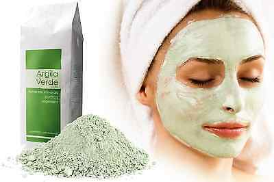 Organic French Green Clay Super Fine Powder Face Mask Body Skin Exfoliation