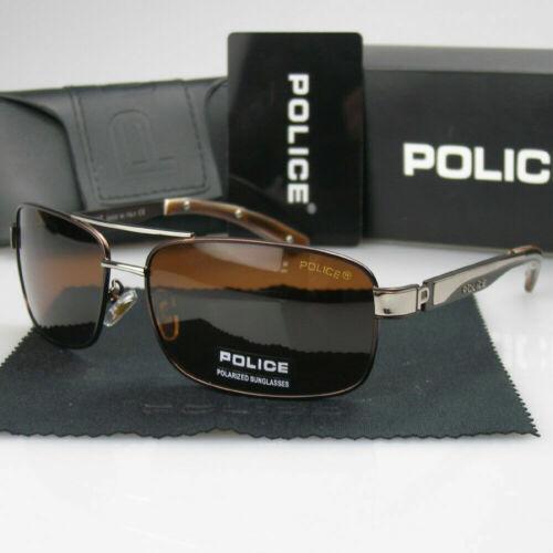 Men Women Polarized Sunglasses Aviator Brown Metal Frame Eyewear Driving Glasses