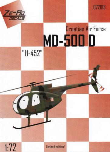 zr72013/ Ze-Ro Decals - MD-500 D - H-452 - Kroatische Luftwaffe - 1/72