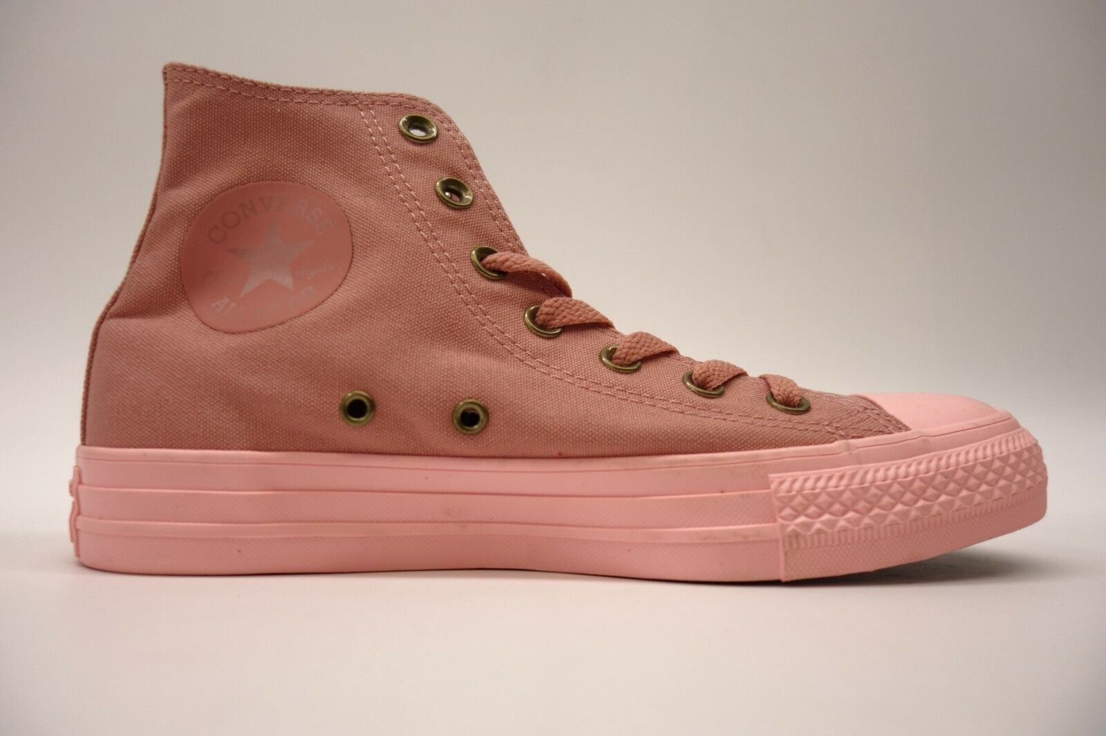 New Converse Womens Bubblegum Pink Chuck Taylor All Star High Top Canvas shoes 7