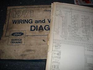 1971 ford pinto wiring diagrams manual set oem original ebay 1971 ford pinto specifications 1971 ford pinto wiring diagram #11