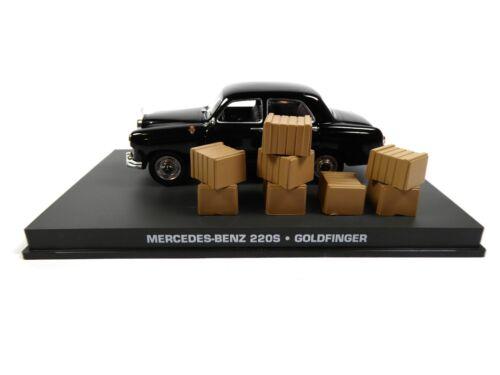 Mercedes Benz 220 S James Bond 007 Goldfinger 1:43 Diecast Modellauto DY117