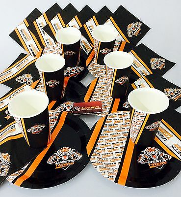 NRL Wests Tigers Birthday Christmas Plates Cups Napkins Party Gift Pack