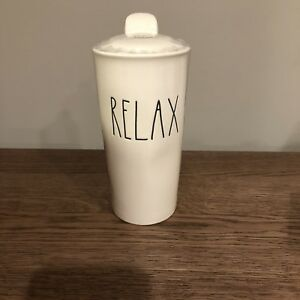 New-Sealed-Rae-Dunn-034-RELAX-034-Large-Letter-LL-Travel-Coffee-Tumbler-Mug