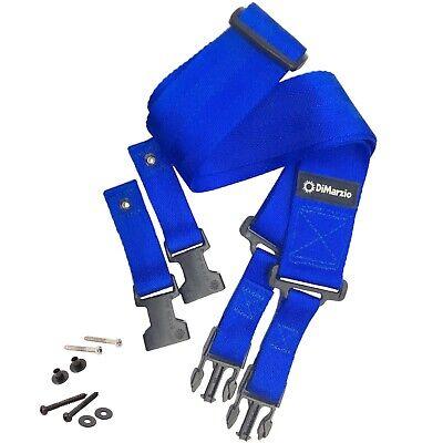 DiMarzio Cliplock Nylon Quick Release Guitar Strap Blue DD2200BL