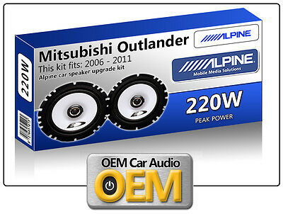 "Mitsubishi Outlander Front Door speakers Alpine 17cm 6.5/"" car speaker kit 220W"